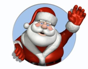 santa, waving, wish