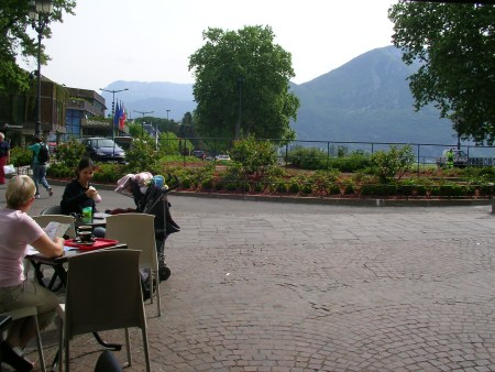 Annecy, cafe, Alps