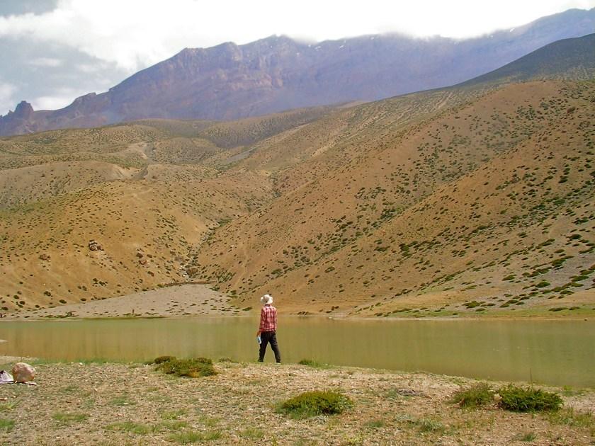 dhankar lake spiti, dhankar lake