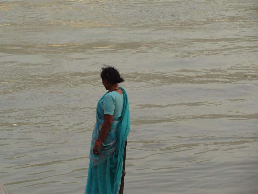 Ganga, Ganges, Rishikesh, aarti, prayers, ecology, Indian woman, holy man