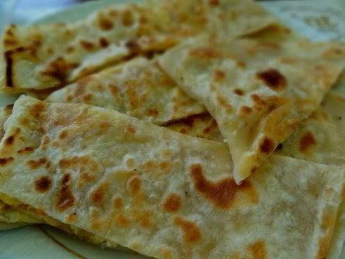 Turkish gozleme, vegetarian gozleme, turkish vegetarian food