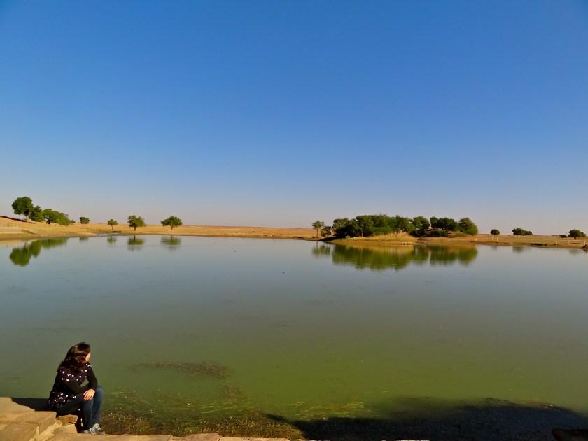 Lake in Rajasthan, Bhap village, Rajasthan village, photos of Indian villages