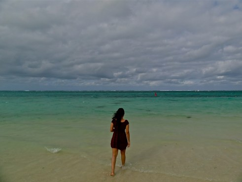 Walking away in Mauritius!