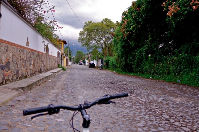 antigua guatemala cycling, antigua guatemala neighborhoods
