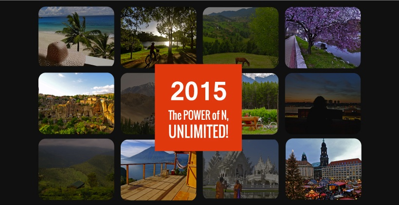adventureN calendar, 2015 travel calendar