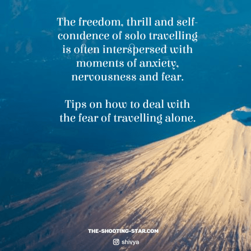 fear of travelling alone, scared to travel solo