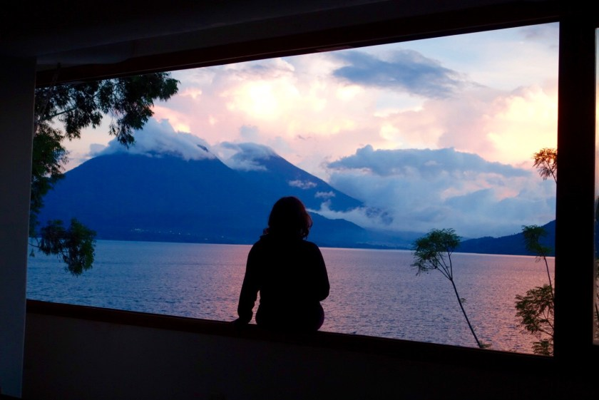 sunset lake atitlan, travel blogs lake atitlan, shivya nath