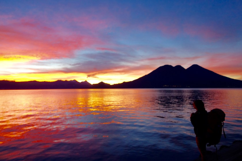 sunrise lake atitlan, lake atitlan guatemala, guatemala travel blogs