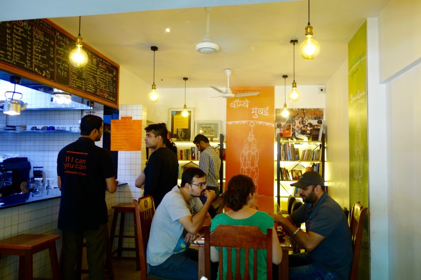 bombay to barcelona library cafe, andheri cafes, amin sheikh