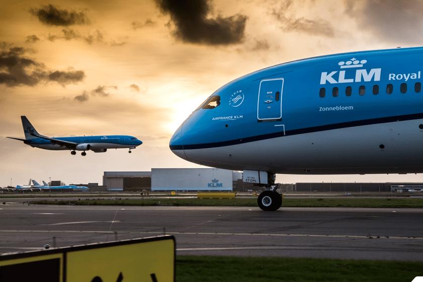 KLM flight