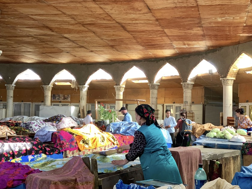 offbeat travel, central asia bazaar