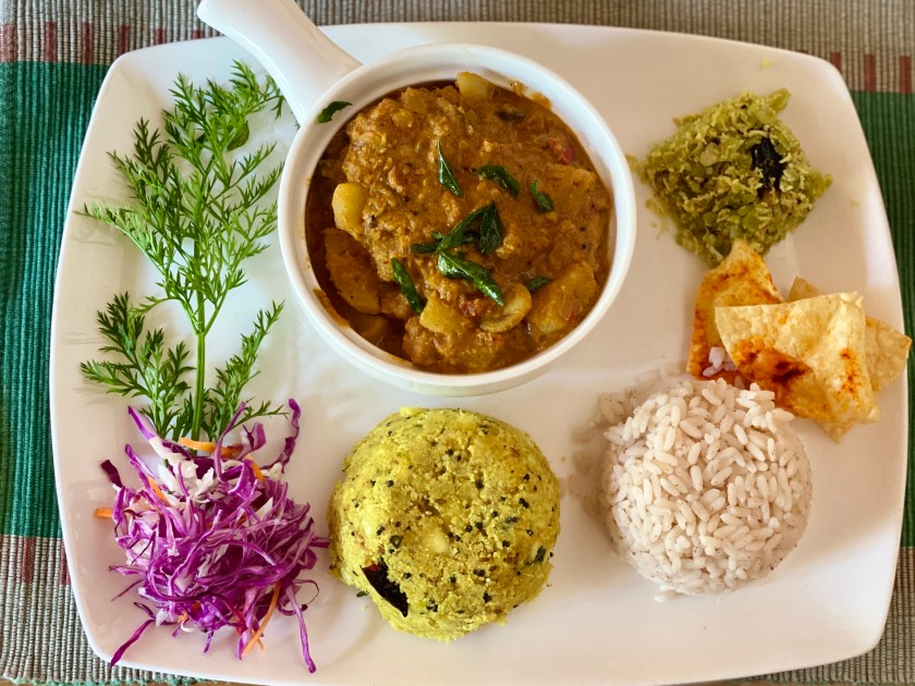 vegan food kerala, vegan homestay kerala