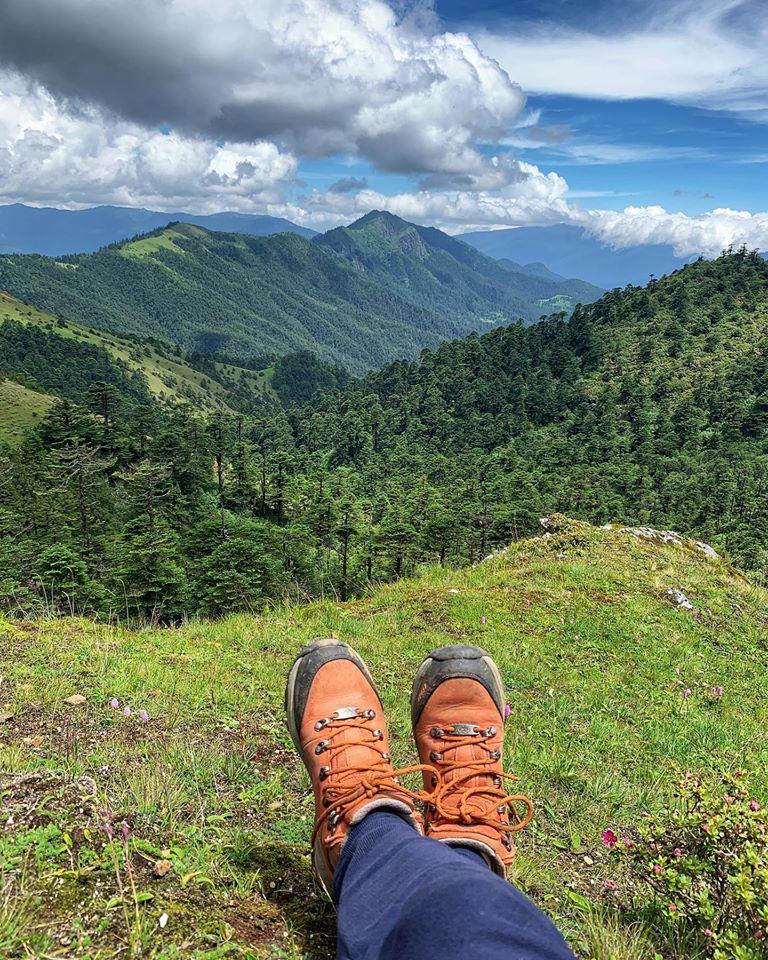 Nuptsonpata trek, bhutanese blogger