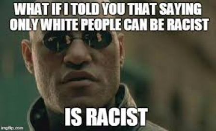 Image result for anyone can be racist memes