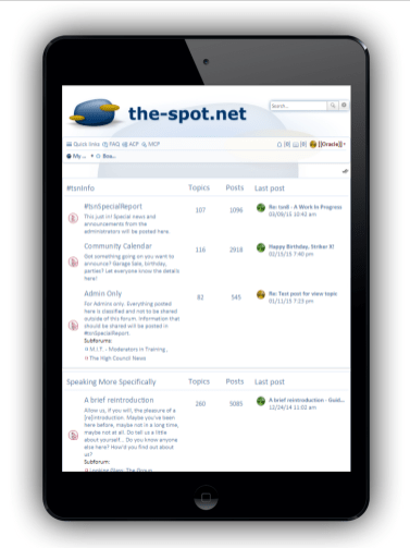 tsn8, Forum Index on the iPad Mini