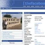 thefacebook original profile page