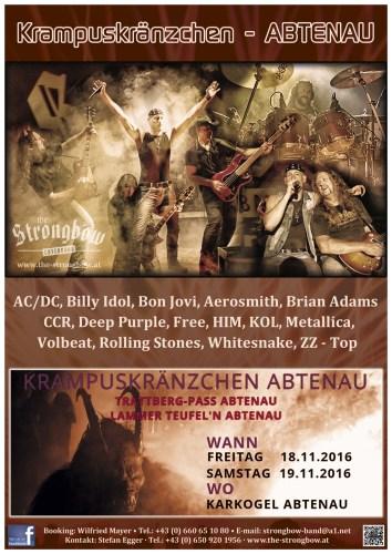 The Coverband Strongbow Live in Abtenau Krampusskränzchen Lammerteufel