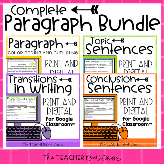 Teaching Paragraph Writing: Conclusions - The Teacher Next Door