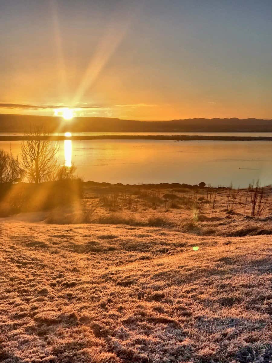 things to do in iceland january - sunrise in Iceland in Winter