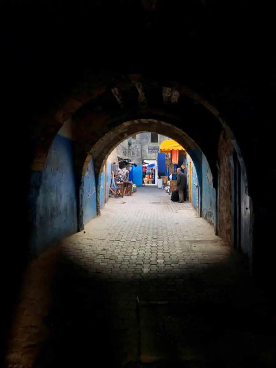 narrow alley in Essaouira
