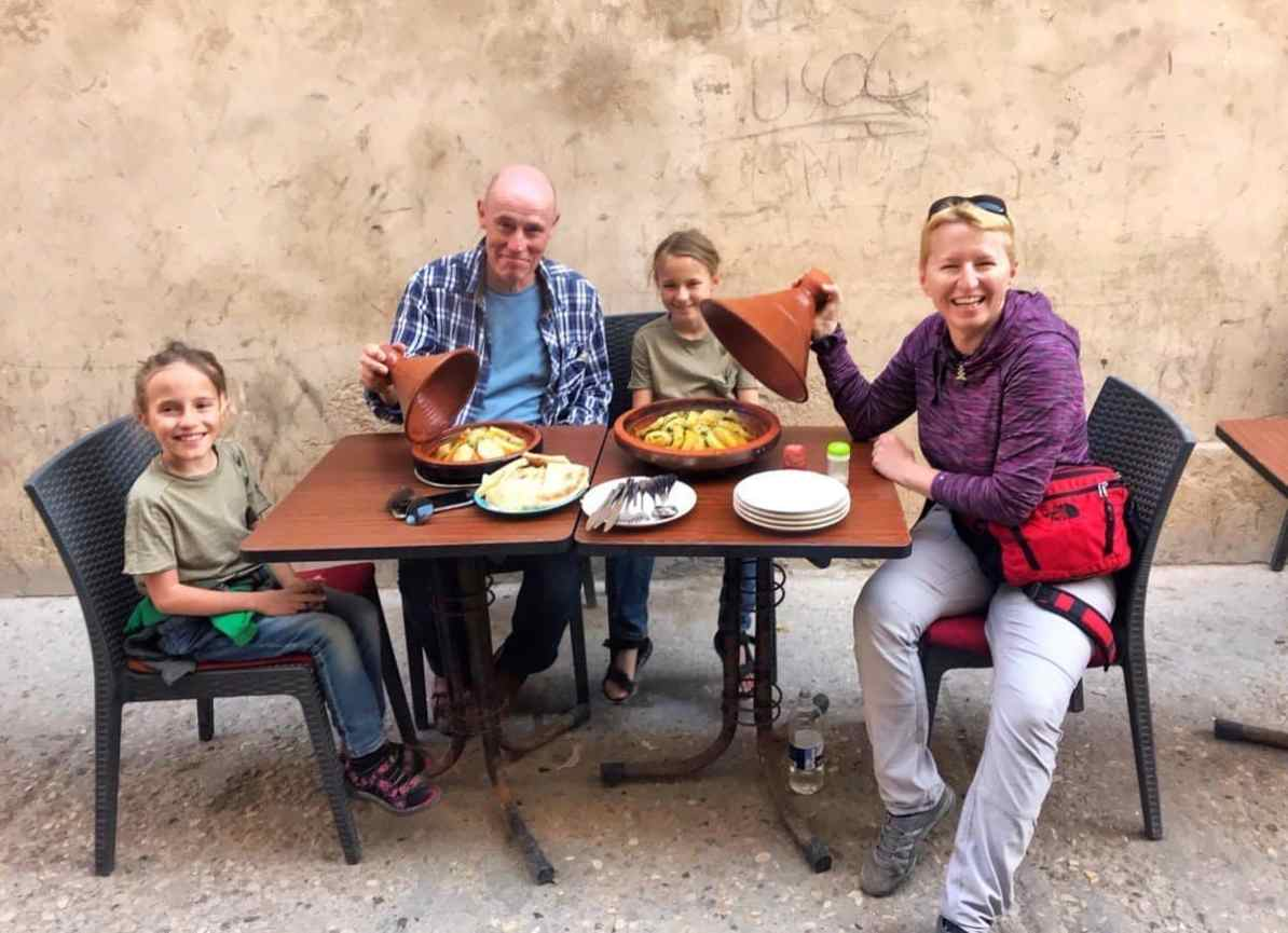 things to do in essaouira - have a meal - tajine follow up with traditional Morrocan mint tea
