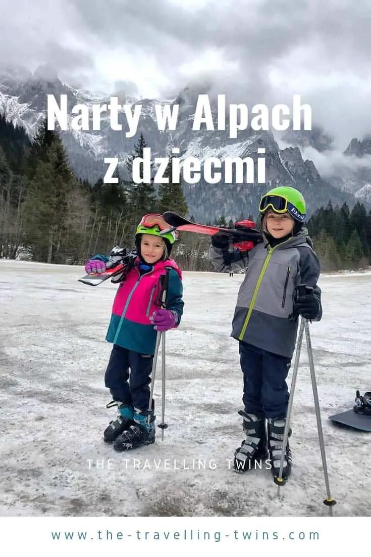 narty w alpach z dziecmi