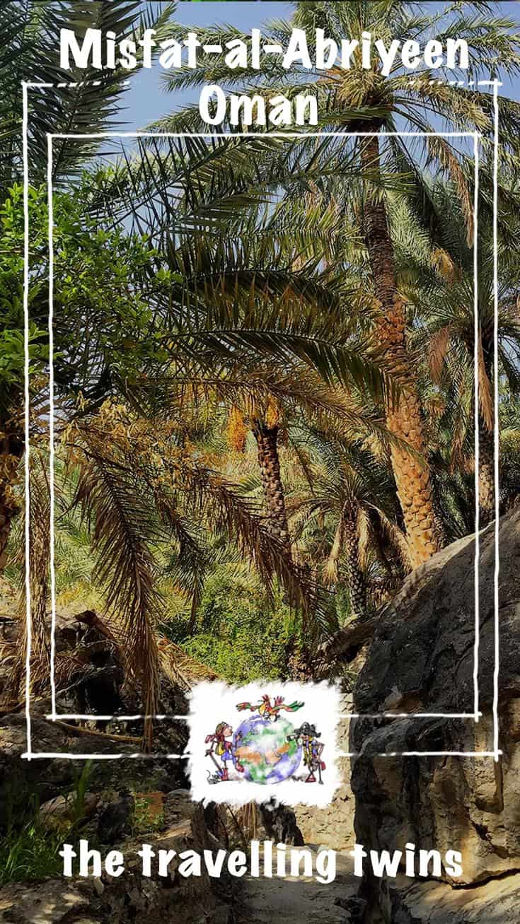 Misfat Al Abriyeen is a tiny hill village, high in the Hajar Mountains. It is one of the oldest and prettiest settlements in Oman.  Mountain springs provide water for agricultural terraces growing dates and bananas.