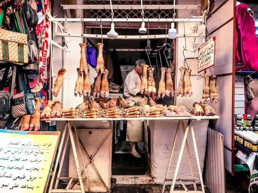meat stall in rabat Morocco