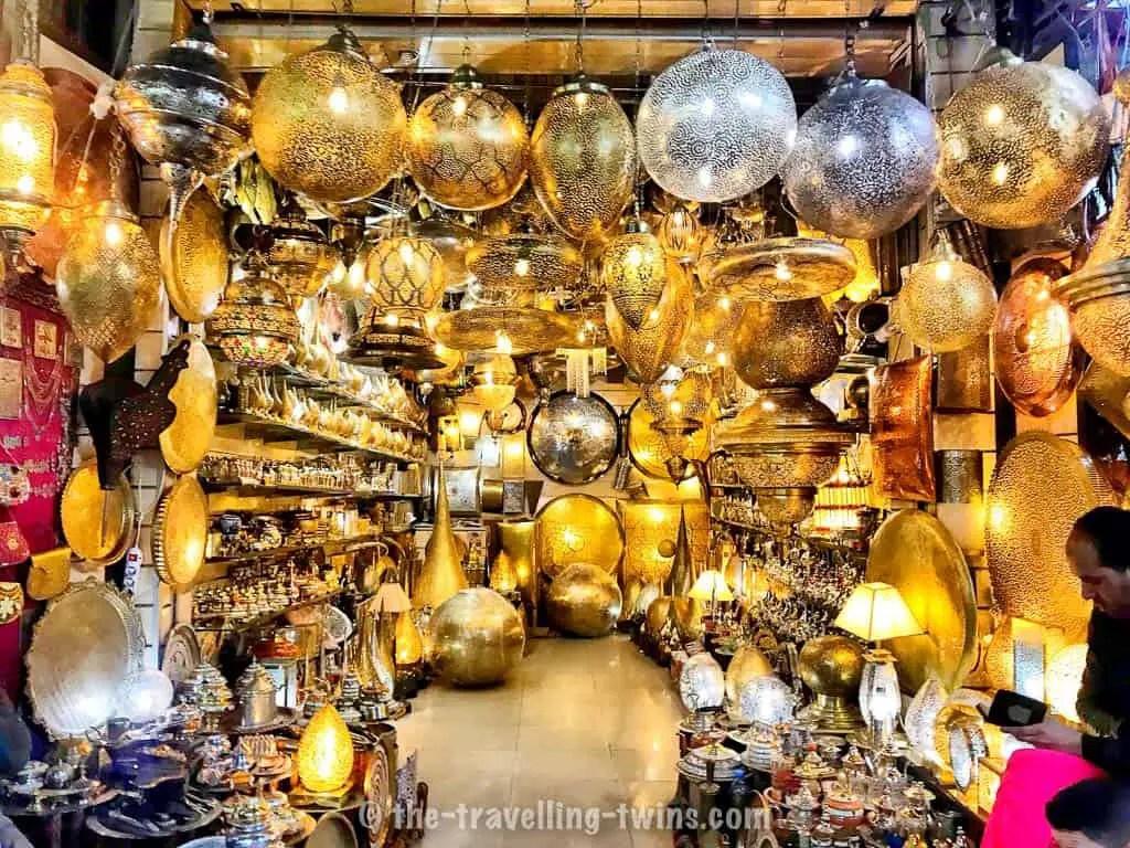 shopping in Marrakech city souk