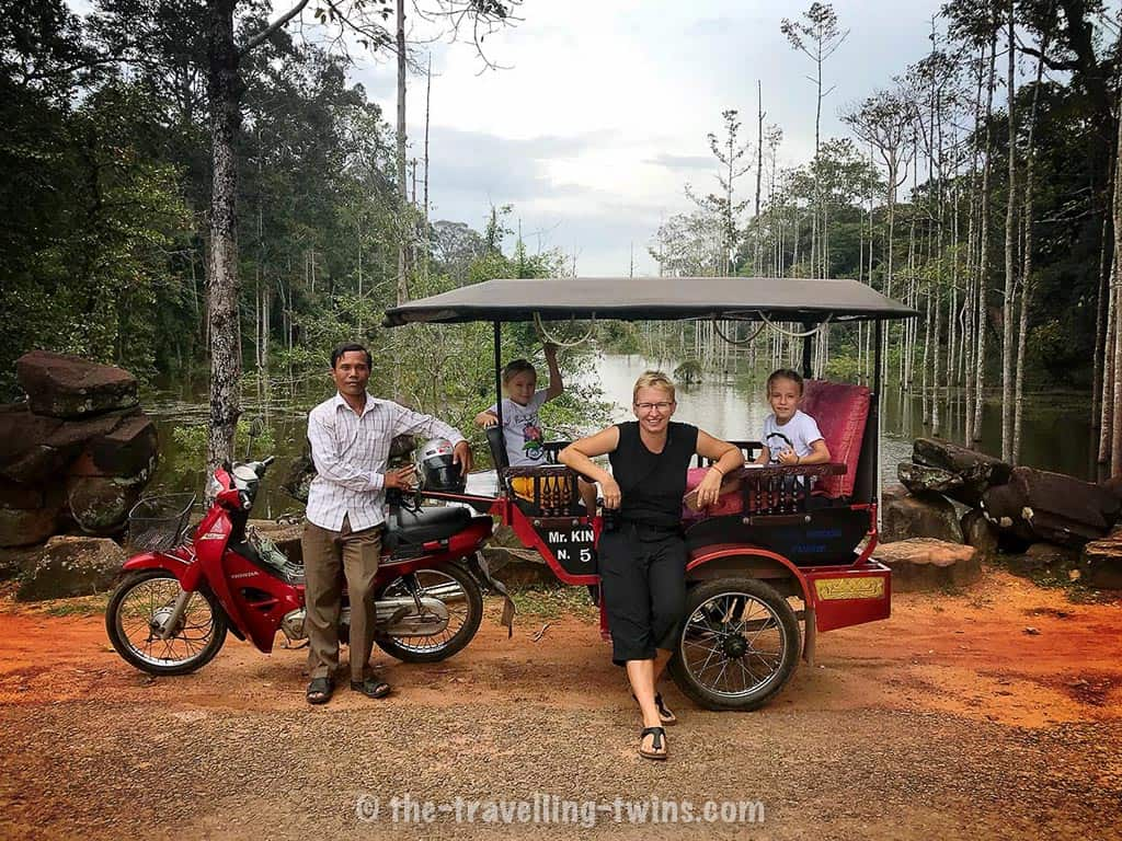 things to do in Siem Reap with kids - make sure that you will hire a good tuk-tuk driver