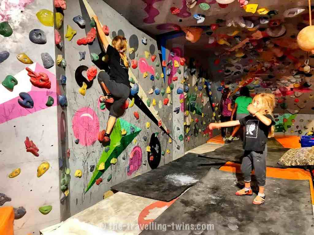 kids activities in hanoi, vietnam - visit climbing wall