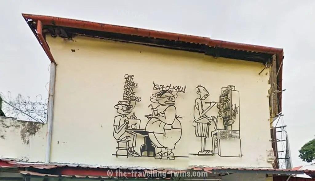 penang best place to visit  penang heritage walk,  street art map,  popular bookstore penang,  samtec penang