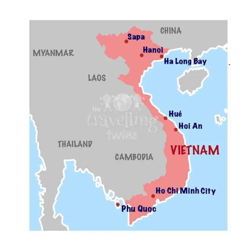 vietnam Map - Wietnam Map