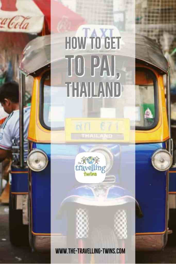 how to get to pai from Chiang Mai - pin Chiang mai and pai