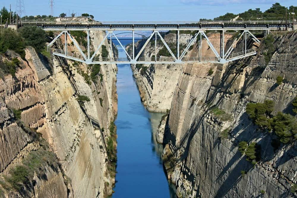 Corinth Canal most famous thing in Corinth  - new Corinth