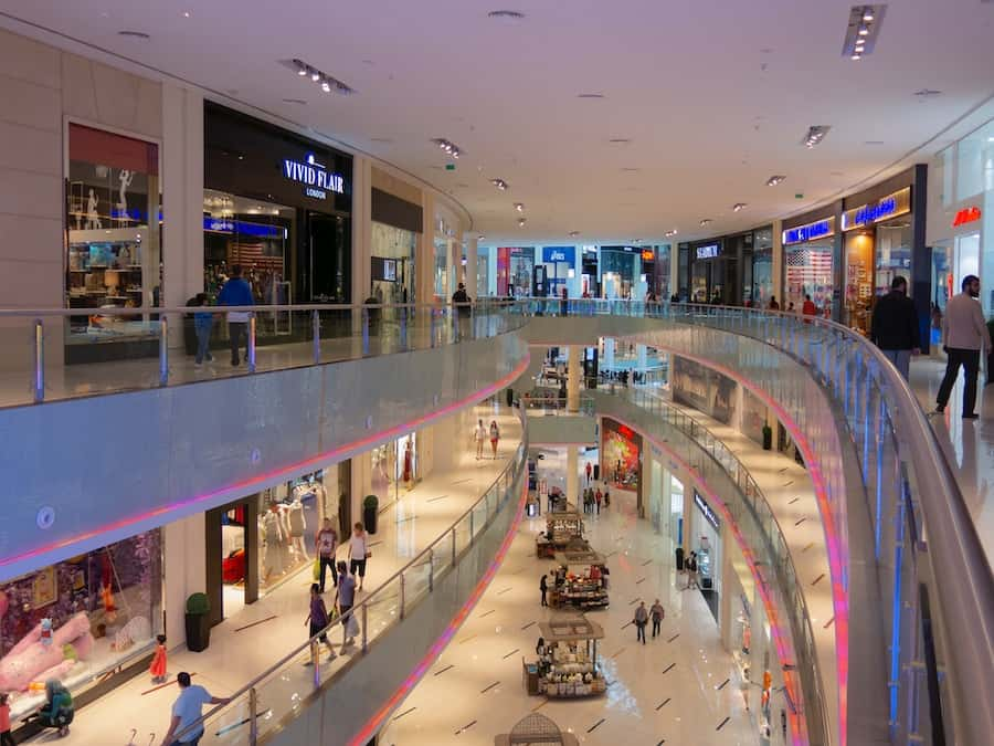 Visit Dubai mall with children to brows shops, play in Kidzania or skate