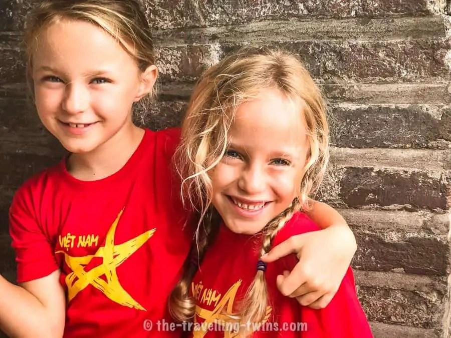 people in vietnam loved my little blond girls