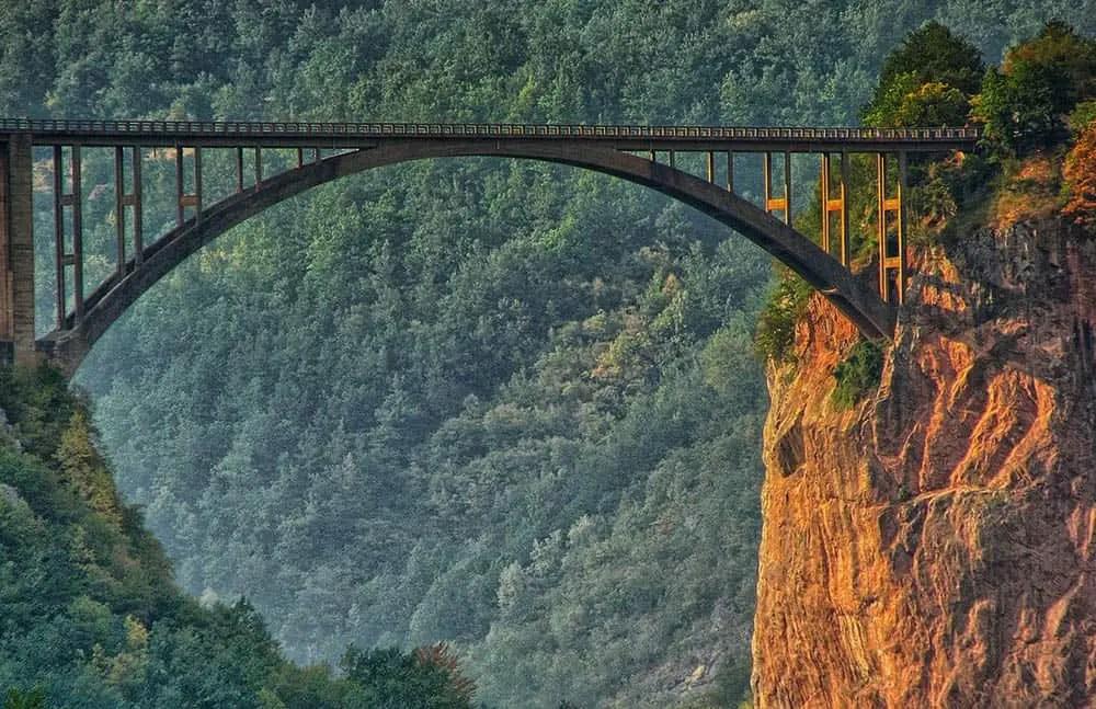 Tara river bridge - national park