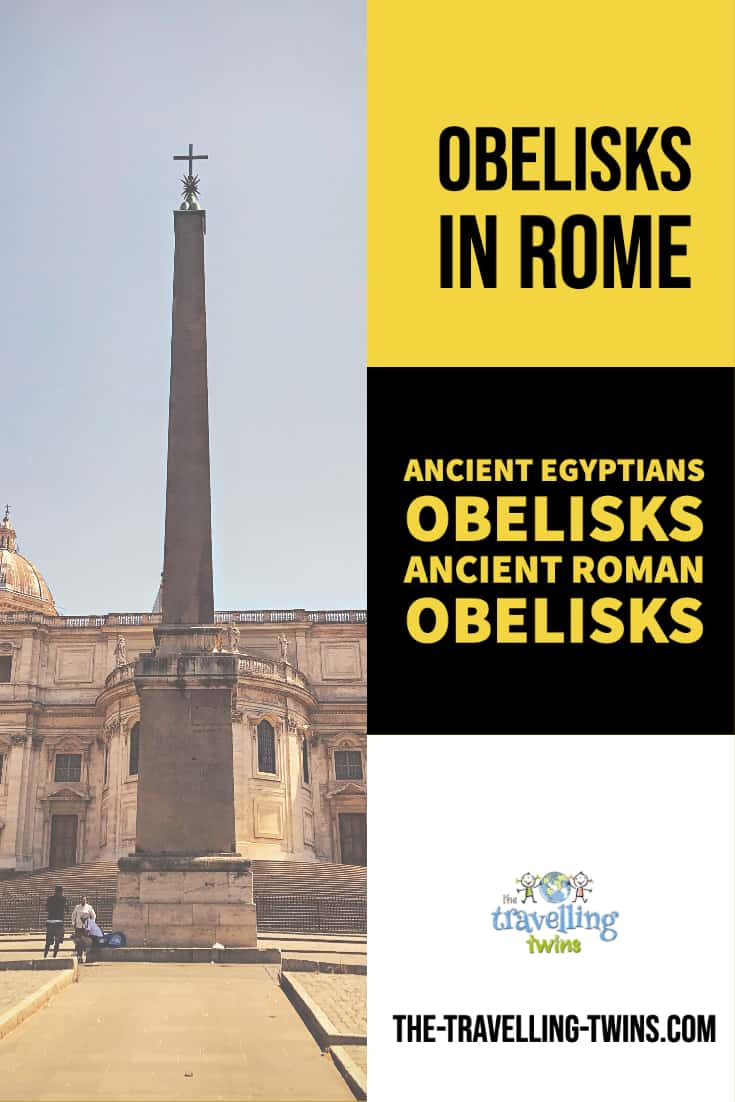 rome's obelisks obelisk was erected by Mussolin