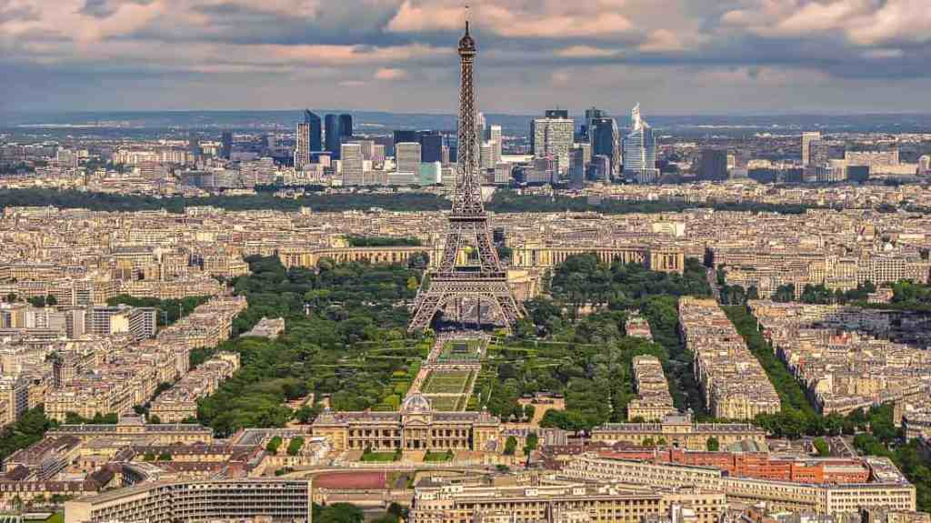 Tower Eiffel, Paris the most recognizable monuments in France