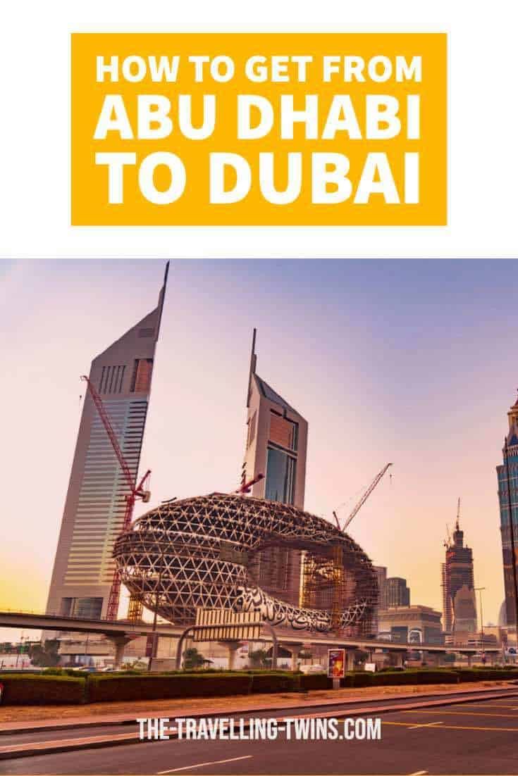 dubai and abu dhabi, how to get to dubai