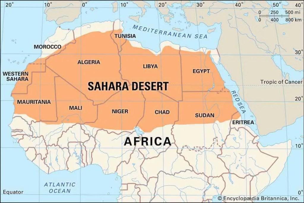 Desert Sahara- map