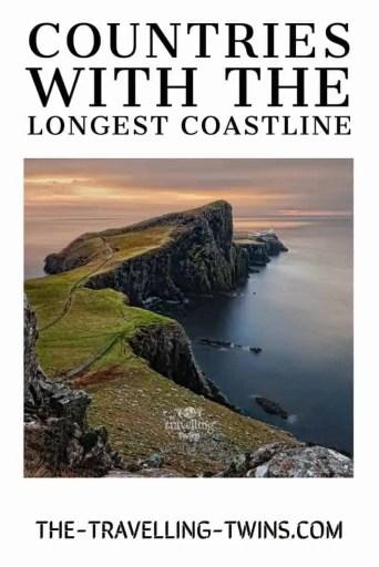 countries with the longest coastline