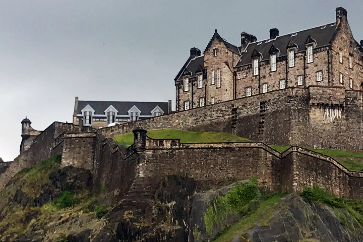 Edinburgh Castle, looking very moody!