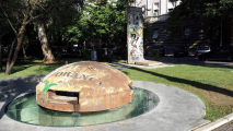 "<h5>Thanks Mateusz Zatonski</h5><p>Segment of Berlin Wall in Tirana, Albania, right next to one of Hoxha's 700 thousand bunkers. © by <a href=""https://www.twitter.com/ZatonskiMateusz"" target=""_blank"">Mateusz Zatonski</a></p>"