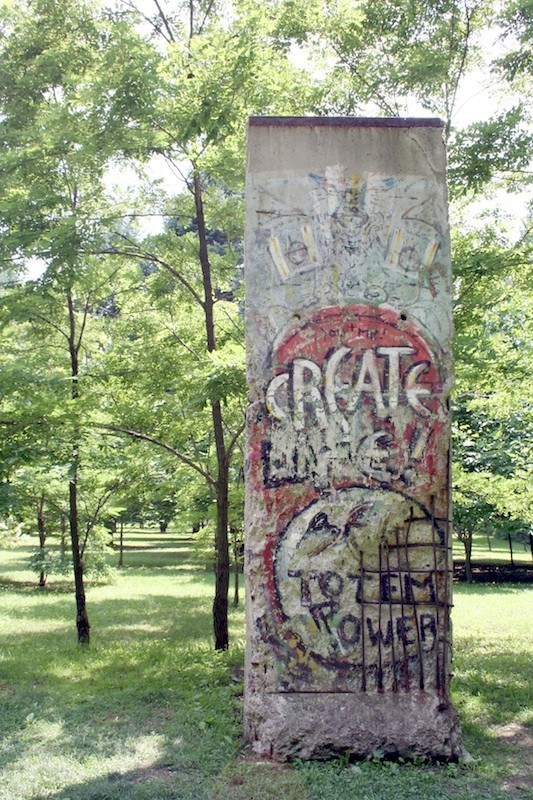 Berliner Mauer in Chalk Hill, Kentuck Knob
