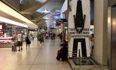 Berliner Mauer am Flughafen Köln/Bonn, Deutschland