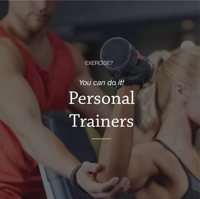 Personal Training assisting client in our hi-tech gym
