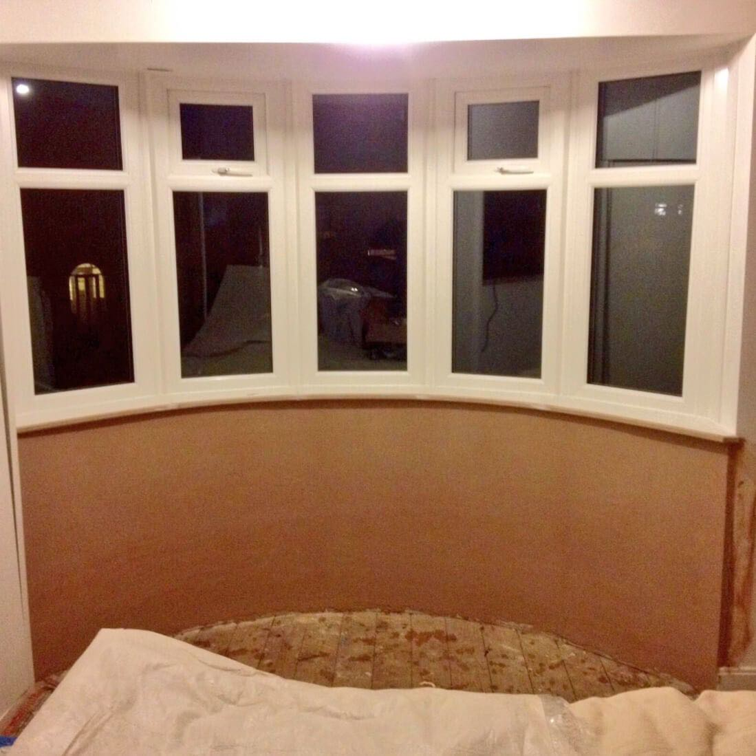 Bay Window with Curved Plaster and Cill
