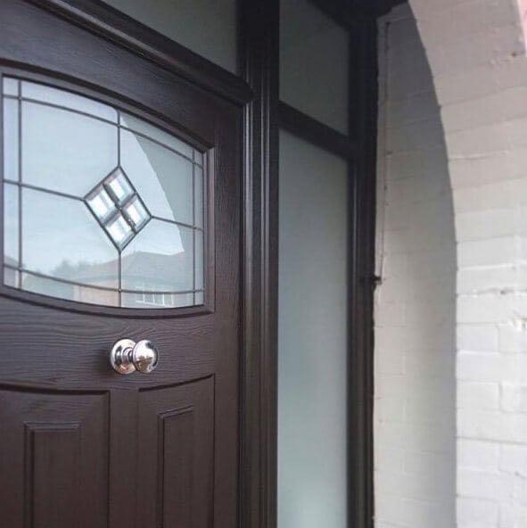 Black Rockdoor with Black Frame